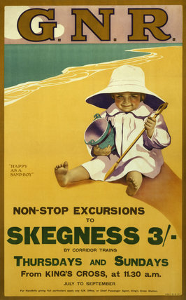 'Non-Stop Excursions to Skegness', GNR poster, 1907.