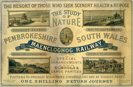 Maencloghog Railway card advertisement, 1923-1947.