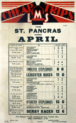 'Cheap Trips', LMS poster, 1934.