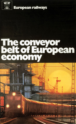 'The Conveyer Belt of European Economy', poster, c 1970s.