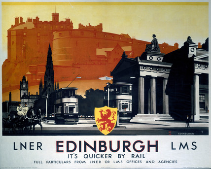 'Edinburgh', LNER/LMS poster, 1923-1947.