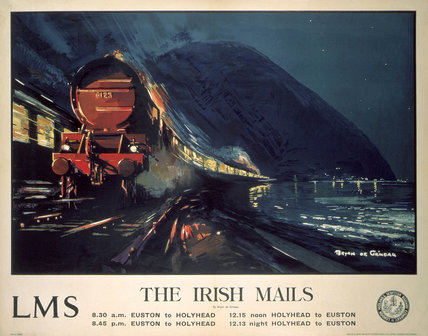 'The Irish Mails', LMS poster, 1923-1947.