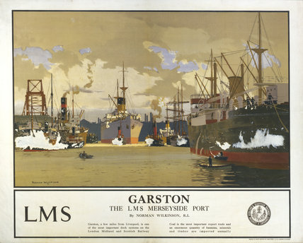 'Garston - The LMS Merseyside Port', LMS poster, 1923-1947.