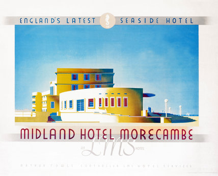 'Midland Hotel, Morecambe', LMS poster, 1933.