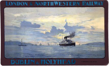 'Dublin & Holyhead', LNWR poster, 1905.