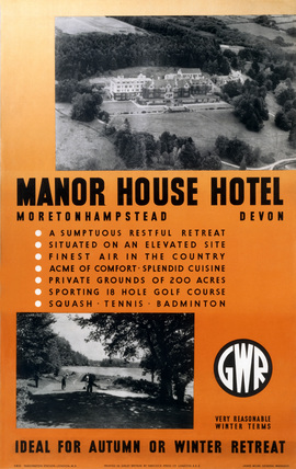 'Manor House Hotel, ', GWR poster, 1923-1947.