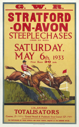 'Stratford-on-Avon Steeplechases', GWR poster, 6 May 1933.
