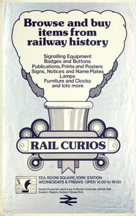 'Rail Curios', BR poster, 1976.