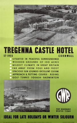 'Tregenna Castle Hotel', GWR poster, 1923-1947.