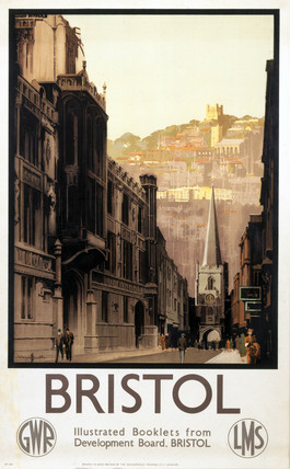 'Bristol', GWR and LMS poster, 1923-1947.