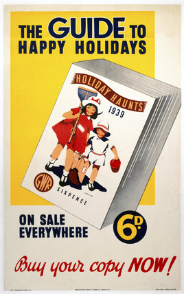 'The Guide to Happy Holidays', GWR poster, 1939.