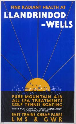 'Llandrindod-Wells', LMS/GWR poster, c 1923.