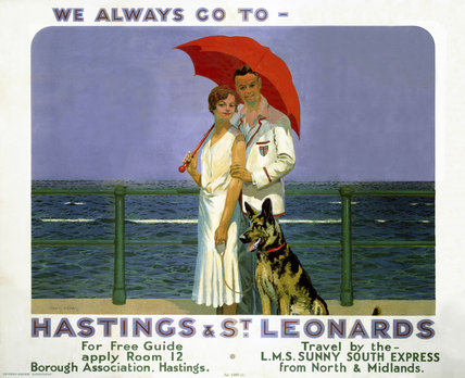 'Hastings and St Leonards', SR poster, 1933.