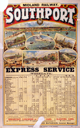 'Southport - Expres Service', MR poster, 1905.