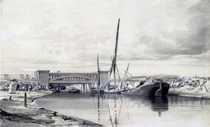 Bridge over the Regents Canal, London, April 1837.