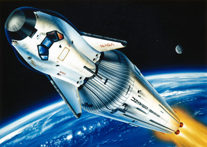HL-20 space taxi, 1991.