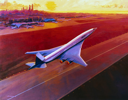Boeing high-speed civil transport concept, 1994.
