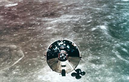 Apollo 10 in lunar orbit, 1969.