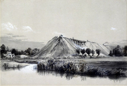 Making the embankment at Wolverton, 29 June 1837.