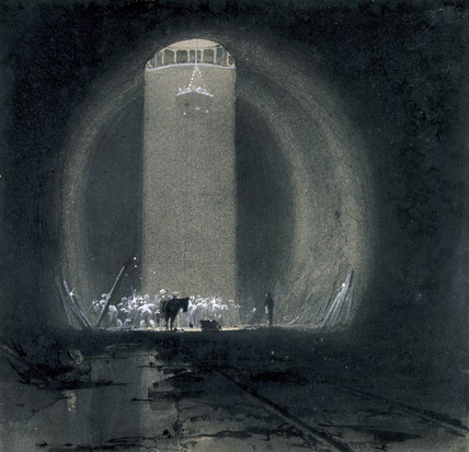 Working shaft, Kilsby Tunnel, Northamptonshire, 8 July 1837.