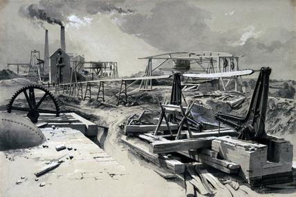 'Pumps, Ventilating Shaft, Kilsby Tunnel', Northamptonshire, 15 July 1837.