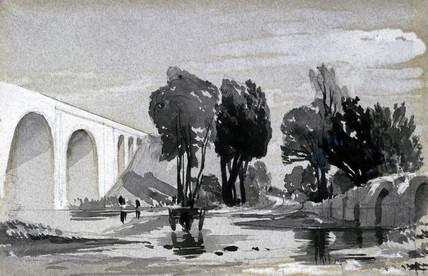 Blythe Viaduct, Hampton in Arden, Warwickshire, c 1838.