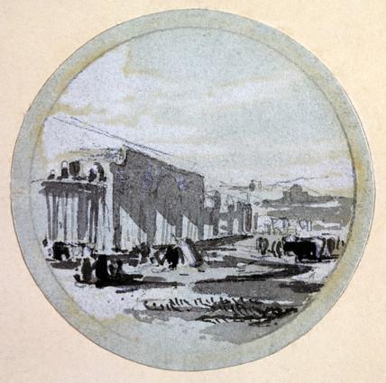 'Building', London & Birmingham  Railway, c 1838.