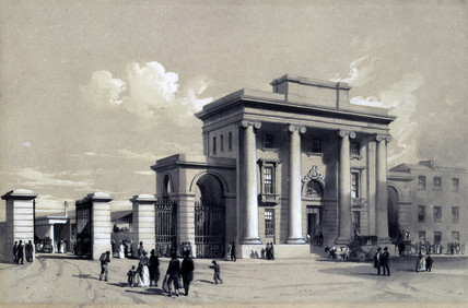 Entrance to Birmingham Station, September 1838.