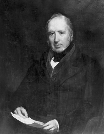 Sir George Cayley, British aviation pioneer, c 1820.