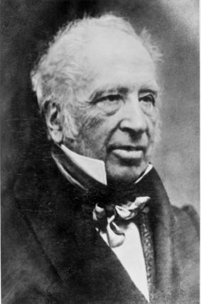 Sir George Cayley, British aviation pioneer, c 1850.