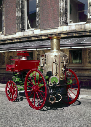 'Sutherland' steam fire engine, 1863.