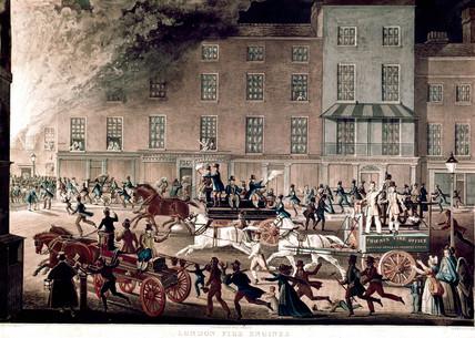 'London Fire Engines', c 1825.