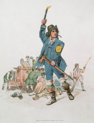 'A Fireman of the Sun Fire Office', 1805.