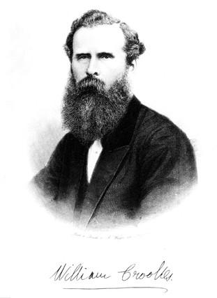 Sir William Crookes, English chemist and physicist, c 1875.