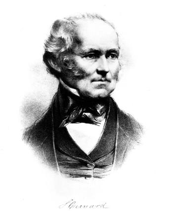 Sir Samuel Cunard, Canadian shipowner, c 1840.