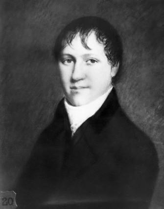 Sir Humphry Davy , English chemist, c 1800.
