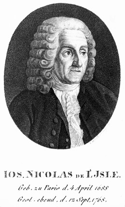Joseph Nicolas Delisle, French astronomer, c 1740.