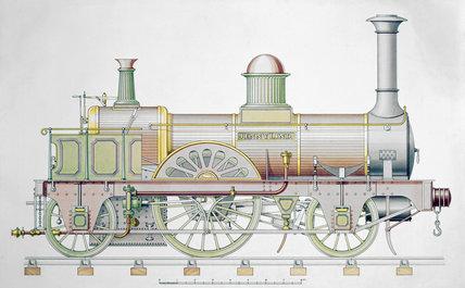 'Jenny Lind' steam locomotive, 1847.