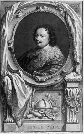 Sir Kenelm Digby, English author, naval commander and diplomatist, c 1645.