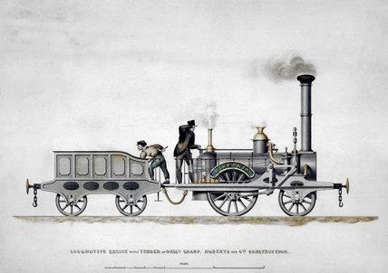 Steam locomotive 'Hibernia', 1834.
