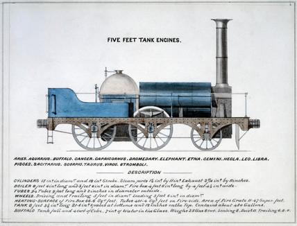 'Five feet tank engines', 1857.