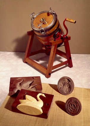Butter making equipment, late 19th century.