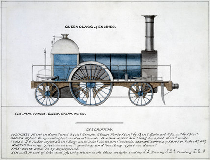 'Queen Clas of Engines', steam locomotive, 1857.