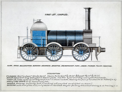 'First Lot Coupled', steam locomotive, 1857.
