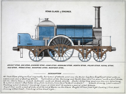 'Star clas of Engines', steam locomotive, 1857.
