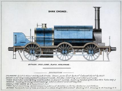 'Bank Engines', steam locomotive, 1857.