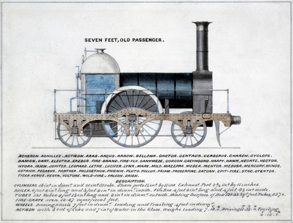 'Seven Feet, Old Pasenger', steam locomotive, 1857.