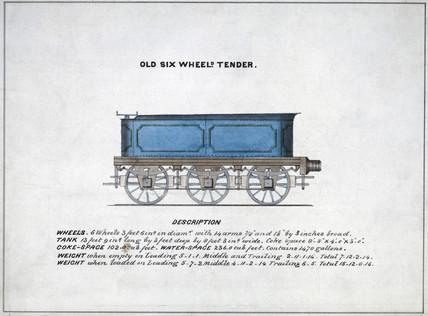 'Old Six Wheeled Tender', 1857.