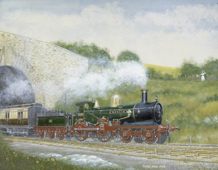 'Merlin' Great Western Railway locomotive No 3260, 1984.