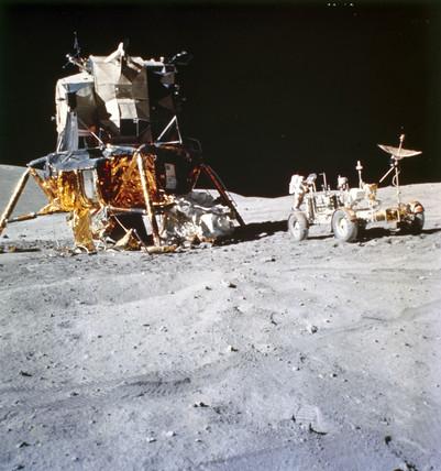 Lunar Module and Lunar Rover, 1972.